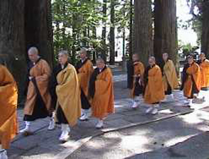 Buddhist Monks on Mt Koya