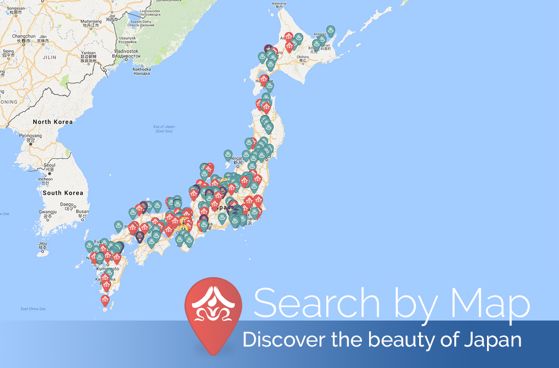 find ryokan by map