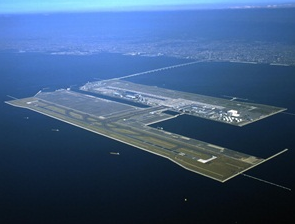 Arial View of Kansai International Airport, Japan