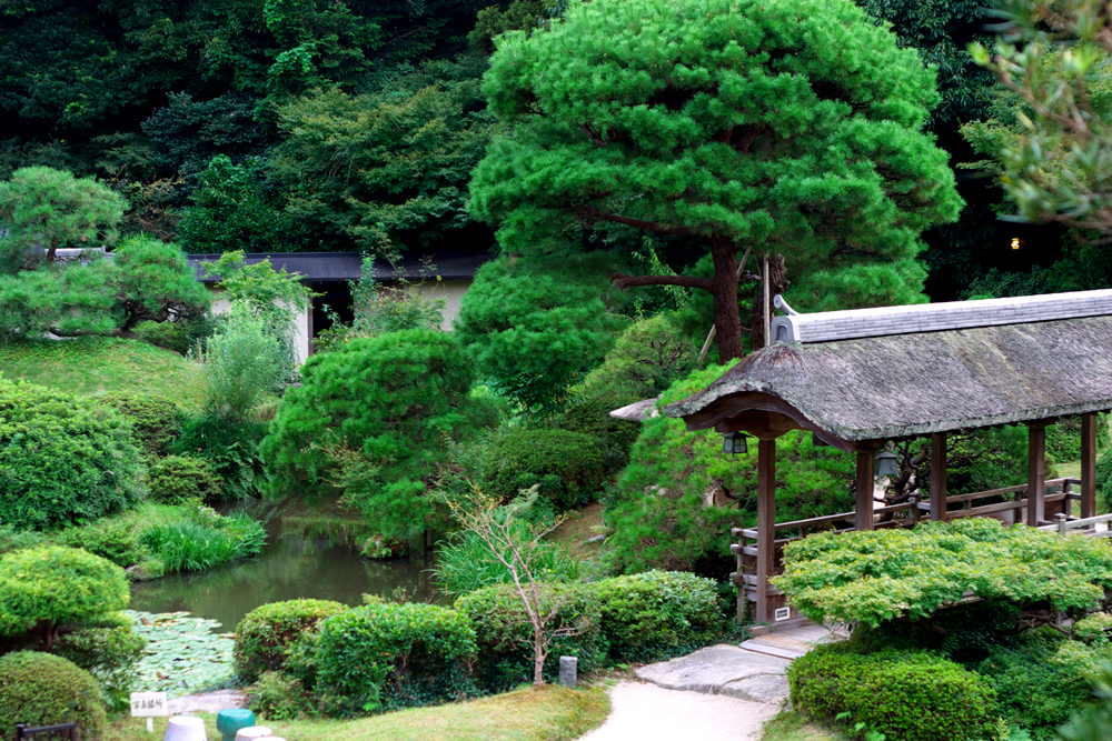 Japanese Garden at Daimaru Besso near Fukuoka on the island of Kyushu